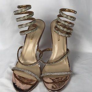 Fashion Nova ankle wrap heels size 10